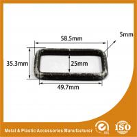 Quality Buckle Inner 49.7X25X5MM Black Square Ring Handbag Accessories / Handbag Parts for sale