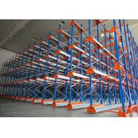 Quality Semi Automatic Heavy Duty Storage Racks 50 Pallets Deep Shuttle Storage System for sale
