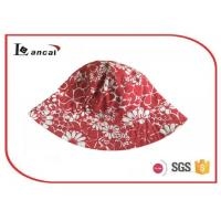 Wholesale 100% Cotton Red reversible fisherman printed bucket hat for children , kids , adult from china suppliers