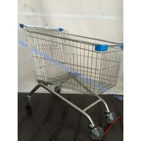 Wholesale European Style Shopping Trolley On Wheels , Supermarket Shopping Cart Trolley from china suppliers