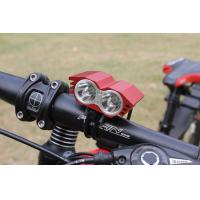 Wholesale 4 Flash Modes Rechargeable 2 CREE T6 2000 Lms Aluminum LED Front Bike Light Headlamp from china suppliers