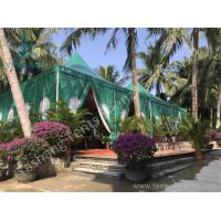 Buy cheap Green PVC Fabric Cover High Peak Tents with Anodized Aluminum Frame from wholesalers