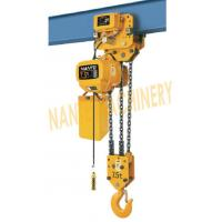 Wholesale HHBB Series Electric Chain Hoist - Capacity of 7.5T for Single / Double Speed from china suppliers