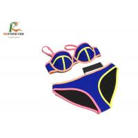China Polyester Custom Printed Clothing / Elastance Dye Sublimation Dry Fit Colorful Womens Bikini Sets for sale