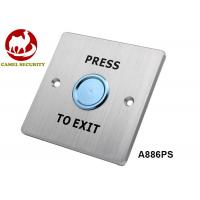 Wholesale Waterproof Ip68 Push Button Switch , Non - Magnetic Round Request To Exit Switch from china suppliers