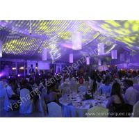 Wholesale Transparent Glass Wall Aluminum Profile Luxury Wedding Tents With White Roof Lining from china suppliers