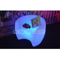 Wholesale Rgb Color Change Led Lounge Furniture Plastic Back Rest  Led Chairs For Coffee from china suppliers
