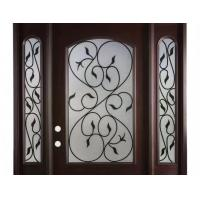 Wholesale Hollow Wrought Iron Glass Safety Tempered Technical Entry Door Suit Oval Shaped from china suppliers