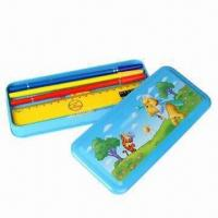 Wholesale Metal Pencil Case for Ballpens, Rulers and Erases, Customized Designs are Welcome from china suppliers