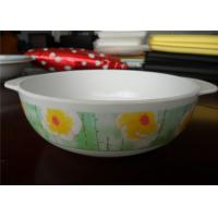 Wholesale Flower Printed Melamine Plastic Bowls , Recycle Melamine Soup Bowls Dishwasher Safe from china suppliers