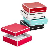 Wholesale Recyclable Colorful Kraft Jewelry Paper Boxes / Bracelet Packaging Box from china suppliers
