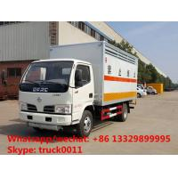 Wholesale Dongfeng LHD 4*2 gas cylinder transportation truck for sale, best price dongfeng van truck for carrying gas cylinders from china suppliers