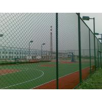 Wholesale Green PVC 4 Inch Chain Link Wire Mesh diamond fence for Basketball Court from china suppliers