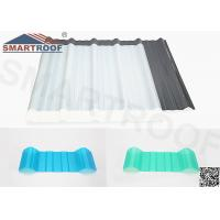 Wholesale Corrugated Translucent Roof Sheets PVC In 2.0mm Thickness For Lighting from china suppliers