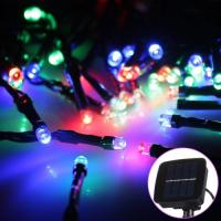 Wholesale 12.5M 100 Led Festival Fairy String Lights With 800-1200lm Solar Panel from china suppliers
