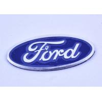 Wholesale Oval Custom Auto Badges Emblems / Car Company Badges Engraved Metal Signs from china suppliers