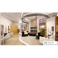 Wholesale Hair salon furniture by white mirror stand and barber's chair with leisure sofa in black leather from china suppliers