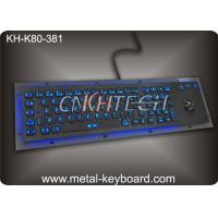 Wholesale LED 80 keys Backlit dust proof keyboard with Trackball mouse , metal keyboard for dark conditions from china suppliers
