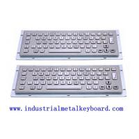 Wholesale Dust-proof 64 Key Industrial Metal Keyboard , Overall 324 x 134mm from china suppliers