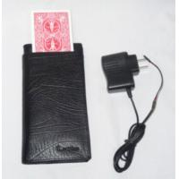 Wholesale Black Leather Electronic Change Card Wallet Poker Cheat Device / Poker Card Analyzer from china suppliers