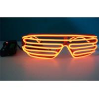 Wholesale Flashing Light Mask Symbol Luminous El Wire Sunglasses / Electro Luminescent Sunglasses from china suppliers