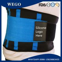 Wholesale WG-LS006 blue Neoprene Lumbar Support with Compression Pull Straps with Customized Silicone Logo from china suppliers