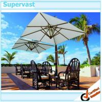 Wholesale Double Wooden Offset Patio Umbrella Canopy , Cantilever Outdoor Patio Table Umbrella from china suppliers