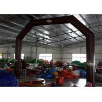 Wholesale 0.4mm PVC Tarpaulin Chololate Color Inflatable Archways For Promotion from china suppliers