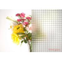 Wholesale 6mm , 6.5mm , 7mm Clear Wire Reinforced Glass , wire mesh safety glass security from china suppliers
