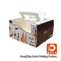 Wholesale Glossy Varnishing 8 Inch Cake Packaging Boxes , Open Window Personalised Cake Boxes from china suppliers