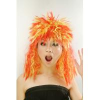 Buy cheap Eco - friendly Curly Crazy Football Sports Fan Wigs for Girl from wholesalers
