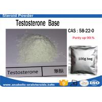 Wholesale Safest Testosterone Steroid Testosterone Base Powder / Test No Ester 58-22-0 from china suppliers