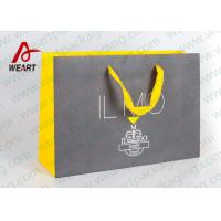 Wholesale Printed Foil Logo Ribbon Paper Bag Customized Collapsible Shopping Bag from china suppliers