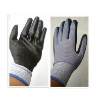Quality knitted coated black nitrile safety glove/working safety gloves for sale