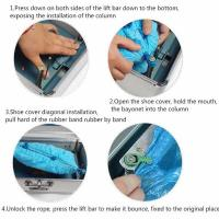 Buy cheap 200pcs Hot Sales ZM-200 Automatic Aluminum Alloy Shoe Cover Dispenser Box With Beautiful Design from wholesalers