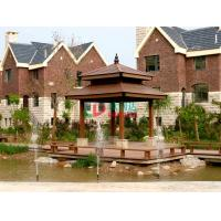Wholesale Anti - UV Double Layers Custom Made Gazebo No Cracking Plastic Wood Fading Resistance from china suppliers