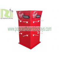 Wholesale Easy assembling POP Cardboard Displays , Fashion Wigs Shop Cardboard Hook Display Stand from china suppliers