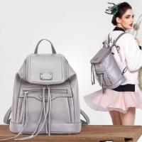 Wholesale Grey Soft Cow Skin Backpacks , American Style Girls Backpacks from china suppliers