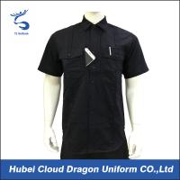 Wholesale Custom Design Black Security Guard Shirts , Tactical Work Shirt For Duty from china suppliers
