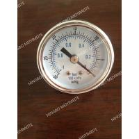 "Wholesale Tempered Glass Window Vacuum Pressure Gauge SS 1/4"" NPT Back Mount -30HG/0 BAR from china suppliers"