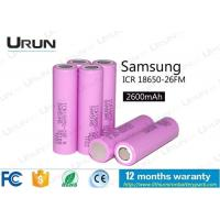 Wholesale Samsung Icr18650 26fm Lithium Ion Battery Cell 2600mAh 3.7V 800 Cycles Lifetime from china suppliers