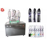 Wholesale Home Deodorant Aerosol Spray Can Filling Machine, Spray Gas Filling Machines from china suppliers