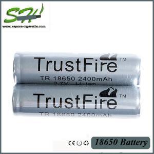 Wholesale Grade A 18650 Mechanical Mod Battery / li-ion Battery 2400mAh 3.7V from china suppliers