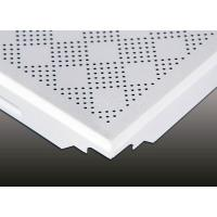 Wholesale Gingham Check Moisture Proof Aluminum  Clip In Ceiling Tiles for shopping mall from china suppliers