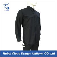 Wholesale Durable Men's Long Sleeve Work Shirts Military Shirts Adjustable Sleeve Buttons from china suppliers