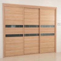 Wholesale Modern Flat Panel Sliding Closet / Wardrobes Doors For Bedrooms Waterproof from china suppliers