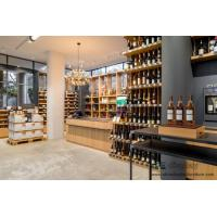 Wholesale Wineshop Interior fit out Bespoke Natural Wooden with Metal frame Storage Cabinet and Display Selling-Counter from china suppliers