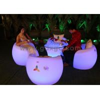 Wholesale Environmentally Friendly Bar Chairs with 16 colors LED Lighting Furniture from china suppliers