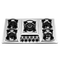 Wholesale 86cm Luxury Stainless Steel 5 Burner Gas Hob , Five Burner Gas Stove with Safety from china suppliers