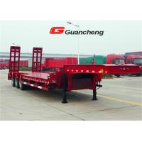 Wholesale 4 Axle 60 Tons 13m Low Deck Trailer , Triangle Tire Gooseneck Lowboy Trailer from china suppliers